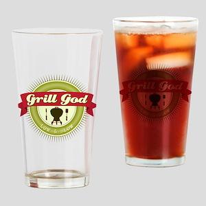 Grill God Drinking Glass