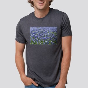 Bluebonnets Mens Tri-blend T-Shirt