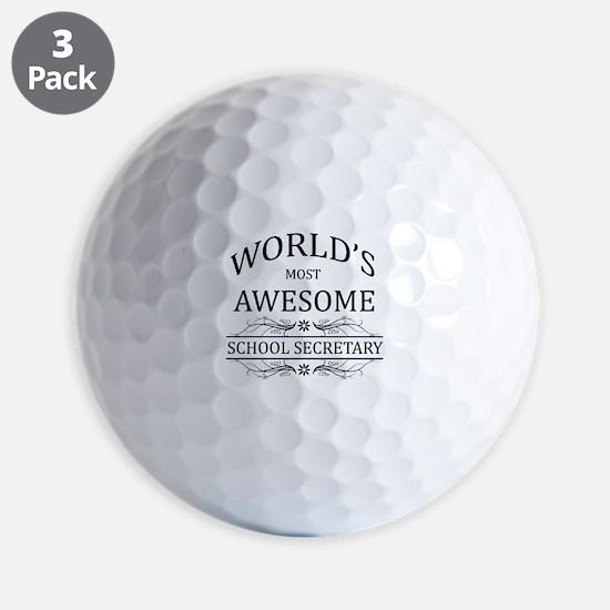 World's Most Awesome School Secretary Golf Ball