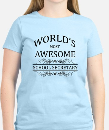 World's Most Awesome School Secretary Women's Ligh