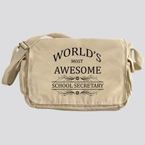 World's Most Awesome School Secretary Messenger Ba