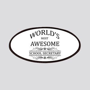 World's Most Awesome School Secretary Patches
