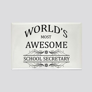 World's Most Awesome School Secretary Rectangle Ma