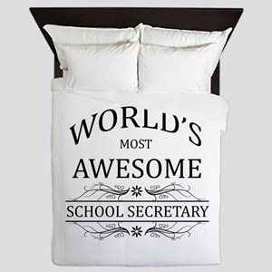 World's Most Awesome School Secretary Queen Duvet