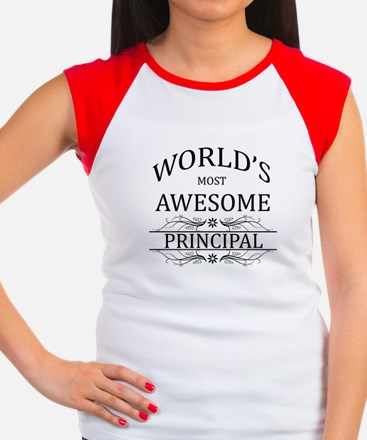 World's Most Awesome Principal Women's Cap Sleeve