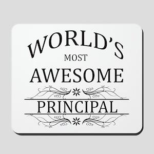 World's Most Awesome Principal Mousepad