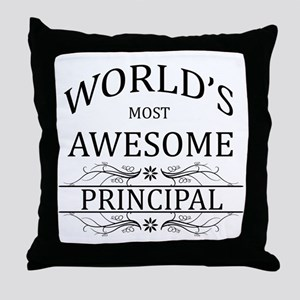 World's Most Awesome Principal Throw Pillow