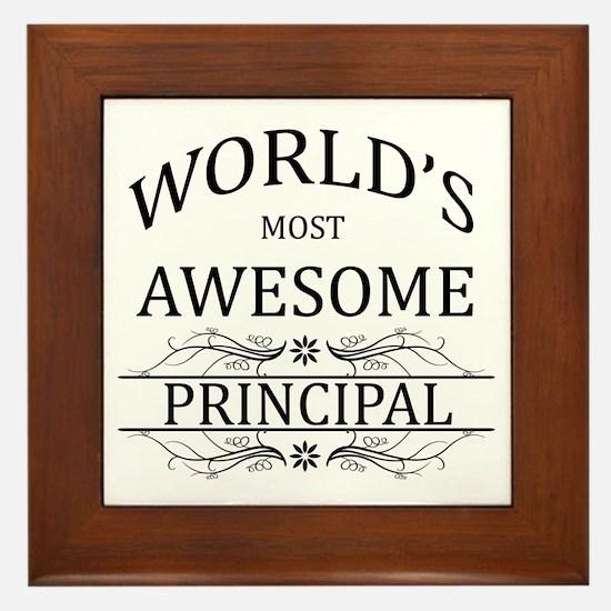 World's Most Awesome Principal Framed Tile