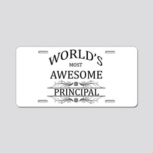 World's Most Awesome Principal Aluminum License Pl