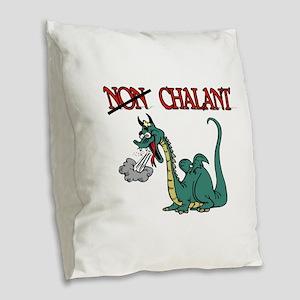 CHALANT DRAGON Burlap Throw Pillow