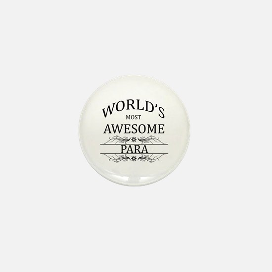 World's Most Awesome Para Mini Button