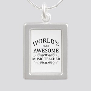 World's Most Awesome Music Teacher Silver Portrait