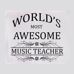 World's Most Awesome Music Teacher Throw Blanket