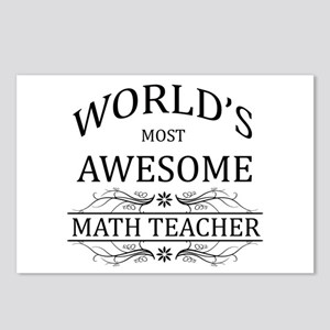 World's Most Awesome Math Teacher Postcards (Packa