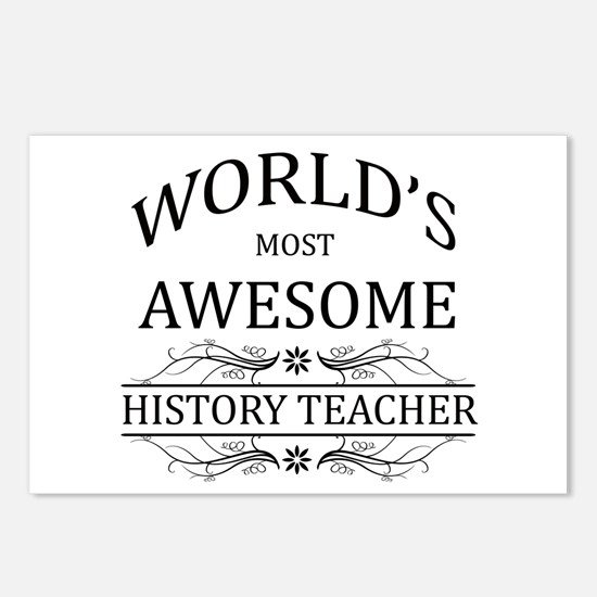 World's Most Awesome History Teacher Postcards (Pa