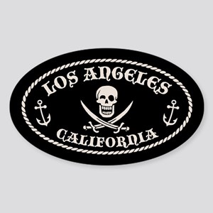 Los Angeles Pirate Sticker (Oval)