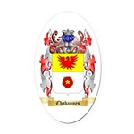 Chabannes Oval Car Magnet