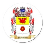 Chabannes Round Car Magnet