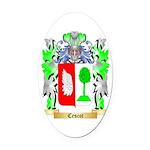 Cescot Oval Car Magnet