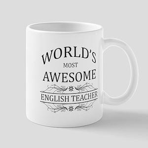 World's Most Awesome English Teacher Mug