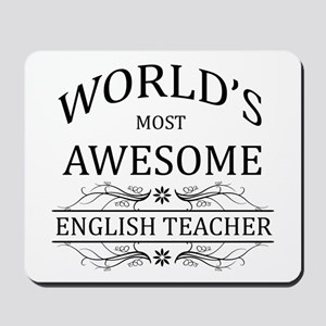 World's Most Awesome English Teacher Mousepad