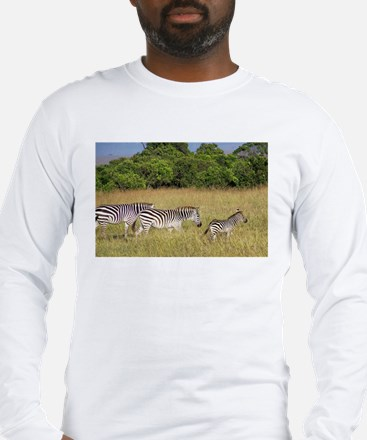 Africa Zebra Herd Long Sleeve T-Shirt