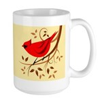 15 Oz Red Cardinal Ceramic Large Mug Mugs