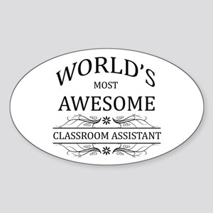 World's Most Awesome Classroom Assistant Sticker (