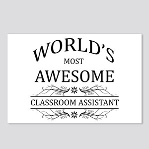 World's Most Awesome Classroom Assistant Postcards