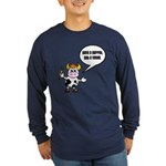 Save a Carrot Eat a Vegan Long Sleeve Navy T-Shirt