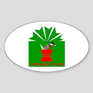 Merry Rx-mas Oval Sticker