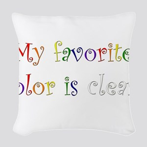 Favorite Color Clear Woven Throw Pillow