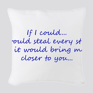Miss You Woven Throw Pillow