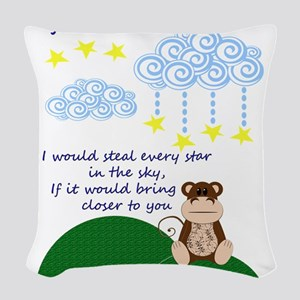 Missing You Woven Throw Pillow