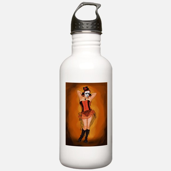 Dia de los Muertos Pin-up of the Artist Water Bott