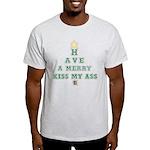 Merry Kiss My Ass Ash Grey T-Shirt