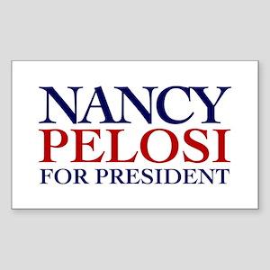 Nancy Pelosi for President Rectangle Sticker