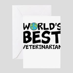 World's Best Veterinarian Greeting Cards