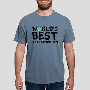 World's Best Veterinarian Mens Comfort Colors