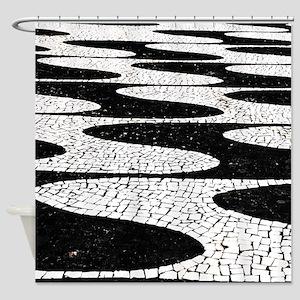 Portuguese pavement Shower Curtain