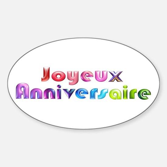 Joyeux Anniversaire French Happy Birthday Decal