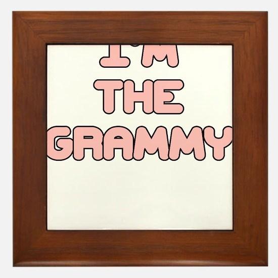 IM THE GRAMMY IN PINK Framed Tile