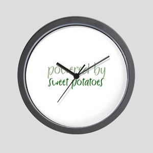 Powered By sweet potatoes Wall Clock