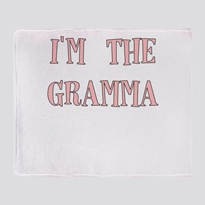 IM THE GRAMMA IN PINK Throw Blanket