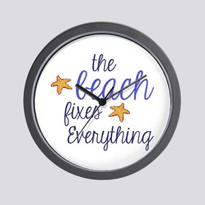 The Beach Fixes Everything Wall Clock