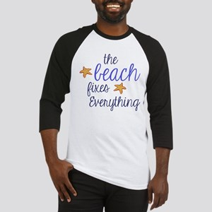 The Beach Fixes Everything Baseball Jersey