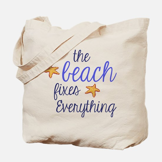 The Beach Fixes Everything Tote Bag
