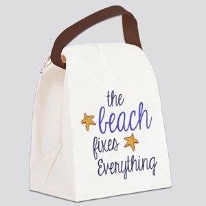 The Beach Fixes Everything Canvas Lunch Bag