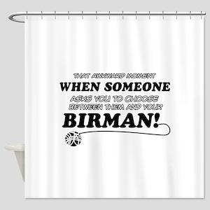 Birman cat gifts Shower Curtain