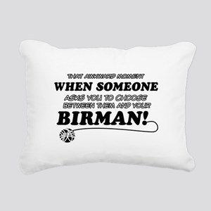 Birman cat gifts Rectangular Canvas Pillow